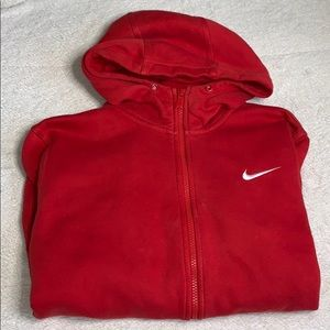 Red Nike zip up